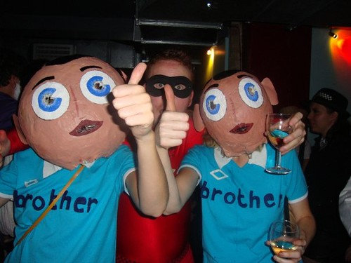 Frank Sidebottom and little Frank