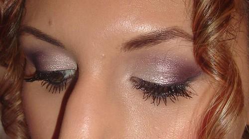 Purple/Silver Smokey Eye Using MAC