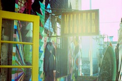 Mollusk NYC, 2009 (ryantatar) Tags: newyork film sign brooklyn xpro crossprocessed kodak williamsburg intothesun thomascampbell canonftb elitechrome200 tywilliams mollusksurfshop jeffcanham alexkopps handshapedsurfboards hangingwetsuit japanesewetsuits mayahayukart