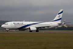 4X-EKL - 35487 - El Al Israel Airlines - Boeing 737-85P - Luton - 091109 - Steven Gray - IMG_4367