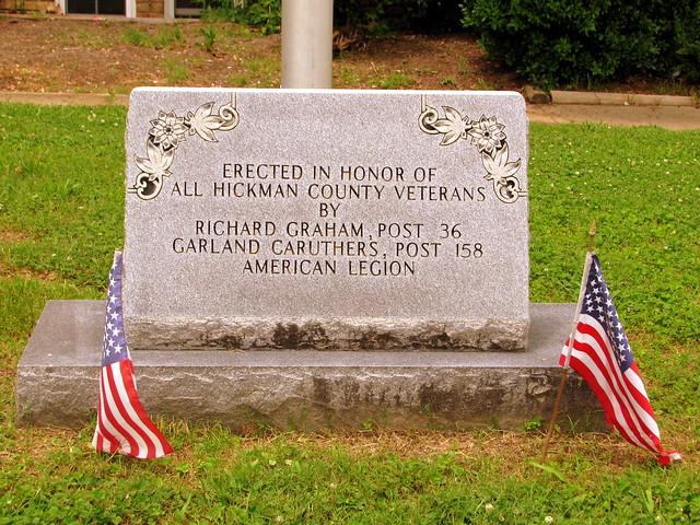 Hickman County Veterans mareker