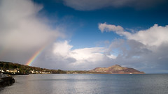 Holy Island from Whiting Bay, Isle of Arran (chris-parker) Tags: sea sky ferry landscape island scotland waterfall rainbow woods stream rosa holy arran caledonian macbrayne