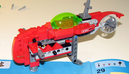 LEGO 8060 Atlantis - Typhoon Turbo Sub - sub-assembly 4