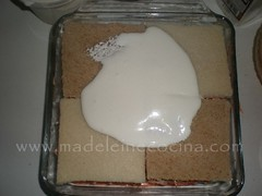 El queso crema como betún