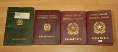 25 anni di passaporti / 25 years of passports (Luigi Rosa) Tags: italy costa italia passport europea italiana comunita repubblica unione passaporto