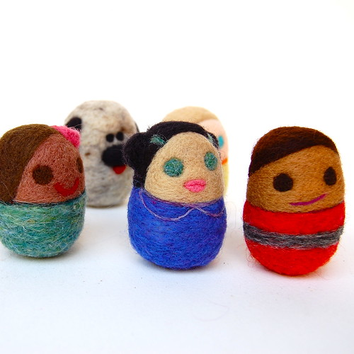 Multicultural egg dolls