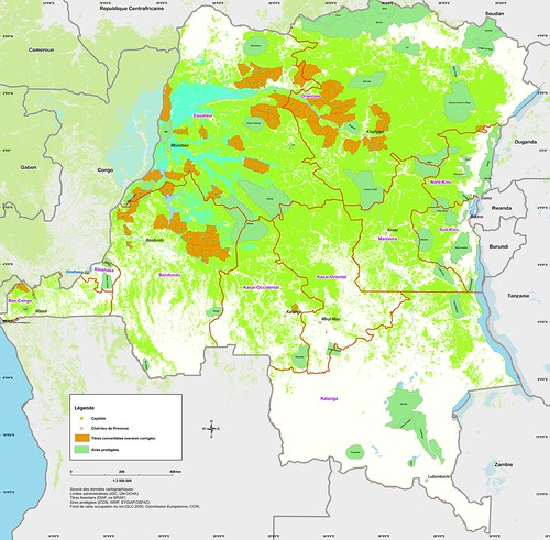 The forests, protected areas and timber concessions