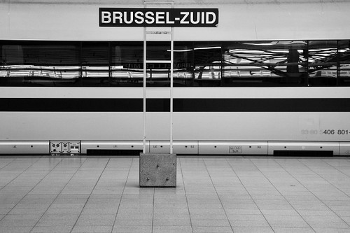 Platform at Brussels South station