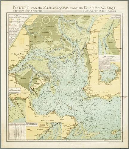 Kaart van de binnenvaart door Teunisz. Pietersz. Keijzer uit 1913