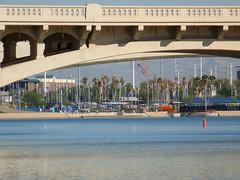 Marina in the Desert (theworldasicit) Tags: bridge marina boats tempetownlakepark