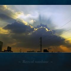 Rays of sunshine - [ EXPLORED ] (-clicking-) Tags: lighting city light sky sunlight beautiful sunshine silhouette clouds spectrum magic vietnam explore rays capture breathtaking magnifique topseven breathtakinggoldaward 100commentgroup daarklands breathtakinghalloffame