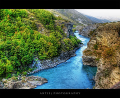 Kawarau River, Queenstown, New Zealand :: P-HDR (Artie | Photography :: I'm a lazy boy :)) Tags: newzealand mountains nature water photoshop river lumix rocks cs2 glacier panasonic handheld southisland queenstown kawarau artie photomatix tonemapping tonemap kawarauriver pseudohdr 1xp phdr