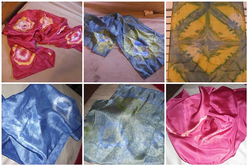 Scarves Dyed By Us