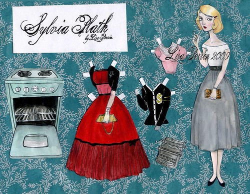 Sylvia Plath paper doll- newest Etsy purchase! Love it.