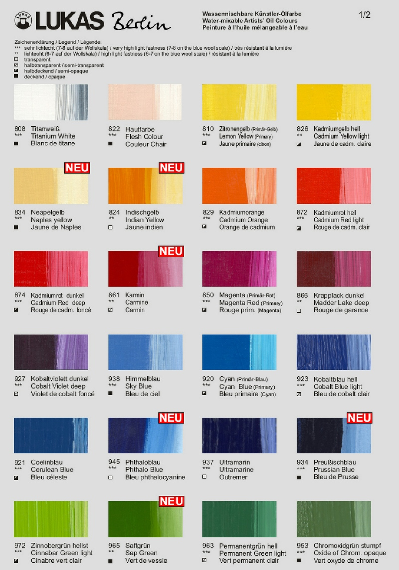 Manufacturers color charts for water soluble oils lukas berlin nvjuhfo Choice Image