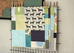 five blocks (r0ssie) Tags: modern quilt patchwork itajimeshibori