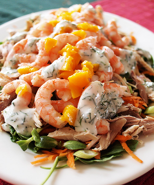 Prawn and turkey salad for National Leftovers Day