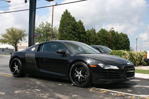 White Audi R8 Black Rims. Audi R8 on Savini Wheels
