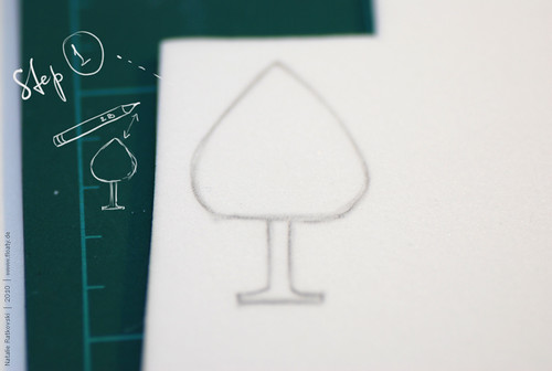 Sponge rubber stamp, step 1