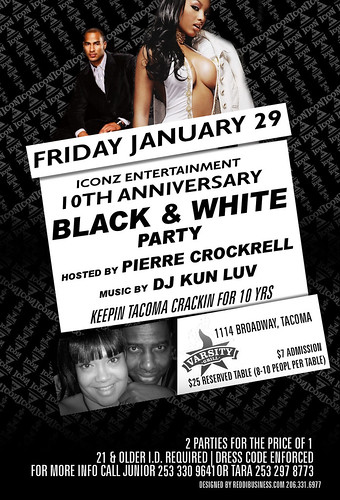 iconz blk wht party