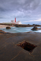 Water in the hole (P_Rocha) Tags: sea canon mar cabo hole tokina farol 1224 raso pnsc 40d