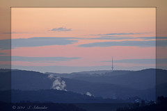 Angelburg (Sebastian.Schneider) Tags: morning nature sunrise germany landscape deutschland scenery hessen outdoor country natur scene telephoto land fernsehturm tele bluehour landschaft sonnenaufgang sunup broadcasttower mittelgebirge ldk haiger drausen lahndillkreis lahndill angelburg mygearandme mygearandmepremium mygearandmebronze germanyblauestunde