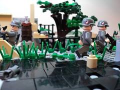 German Mortar Crew 1944 (the road) (silentjonfilms) Tags: lego wwii mortar crew german ammo decals weapons brickarms brickforge