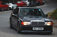 Mercedes-Benz, 190E, 2.3-16 Cosworth, Big Wave Bay, Hong Kong (Daryl Chapman Photography) Tags: bz2316 mercedes benz german bwb bigwavebay classic car cars auto autos automobile canon eos 1d mkiv is ii 70200l f28 road engine power nice wheels rims hongkong china sar drive drivers driving fast grip photoshop cs6 windows darylchapman automotive photography hk hkg bhp horsepower brakes gas fuel petrol topgear headlights worldcars daryl chapman darylchapmanphotography 190e 2316 cosworth