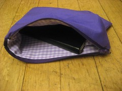 Purple Pouch in use