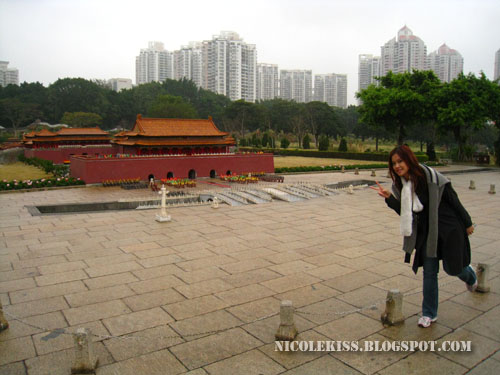 me in front of replica Tian An Men in Beijing