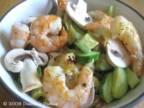 "Shrimp With Pan ""Fried"" Chinese Cabbage Becomes Salad"