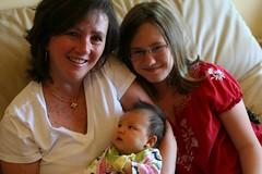 Hazel with aunt Kathleen and Peyton