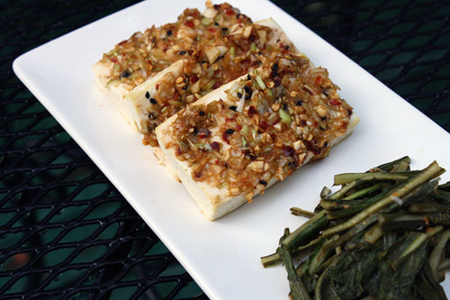 Meat-Free Friday: Korean Baked Tofu and Spicy Dandelion Greens 1