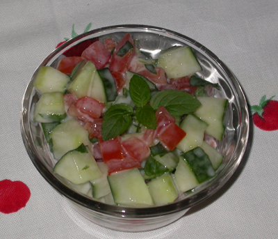 Minted Cucumber Salad