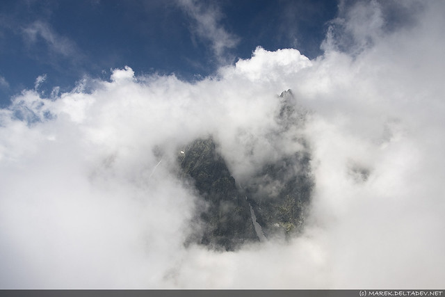 Gerlach całą drogę krył się w chmurach