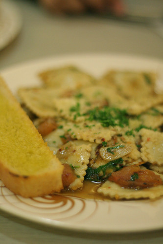 Mushroom and Mozarella Ravioli