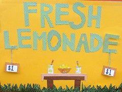 lemonade stand! (amy.gizienski) Tags: sign yellow lemonade lemonadestand