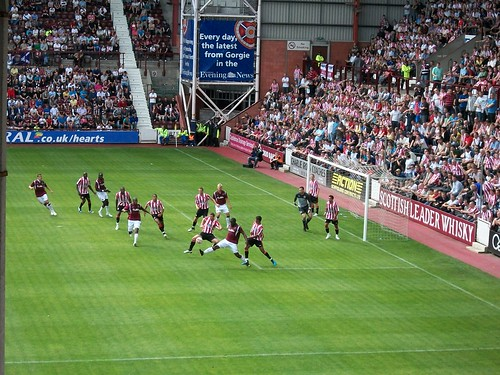 Hearts vs Sunderland football match