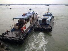 Boats heading home - pulau ubin
