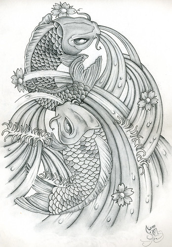 Pin Up; Simons Koi Carp Tattoo