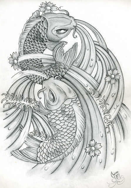 One of my Koi carp drawings. Its based on tattoo art and was designed as a