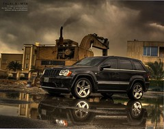 Cherokee  SRT\8 (Talal Al-Mtn) Tags: jeep srt8 srt srt10 jeepcherookesrt8 2008 intake afe xpipe system exhaust chip dino borla corsa sts garage 20 chrome rims full talalalmtn street pro hard inkuwait q8 shot automobile automotive automatic tiptronic manual gerar top bytalalalmtn canon rebel xsi 450d d eos canon450d rain clouds black white green yellow orange red blue gray kuwait kwt v8 supercharged turbo twin motor engine hemi 2009  race cherokee cherokeejeepsrt8