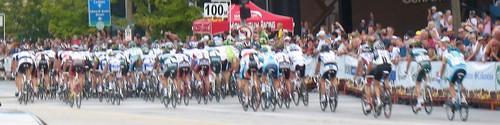 Peloton in Stage 1, Tour of Missouri 2009