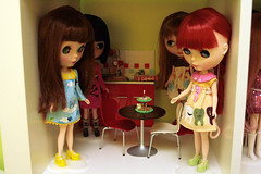 I even decided that I could set up a kitchen... (daisy plus three) Tags: green ikea yellow bjd blythe pullips expedit 5years lati anniversarypresent dals adolladay pukifee