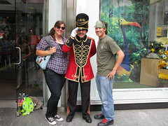 Danielle and I and a Toy Soldier (krisjaus) Tags: sunglasses toys girlfriend salute faoschwartz british bandana toysoldier britishsoldiers krisjaus redshoelaces danielleeberhart theworldslargesttoystore danielleeberhartsbirthday19thbirthdaycelebration