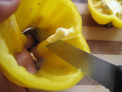 Prepping the peppers
