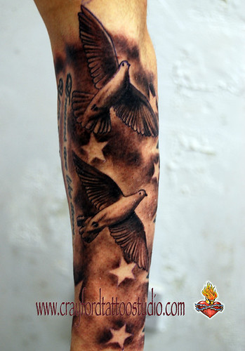 tattoos of doves. Doves and Stars Tattoo
