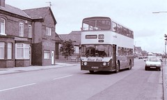 Blue Bus of Horwich Leyland Atlantean Alexander No16 NRG161M (Retrobus) Tags: blue bus june 17 1991 alexander leyland horwich atlantean no16 nrg161m exaberdeen
