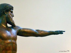 Zeus (or Poseidon), National Archaeological Museum, Athens (Vasilis Mantas) Tags: museum ancient olympus athens greece zeus poseidon explored     700   vmantas vmantasphotography