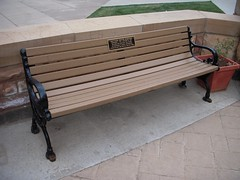 Matthew Shepards bench at UWyo.